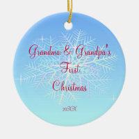 Grandma & Grandpa First Christmas Ornament