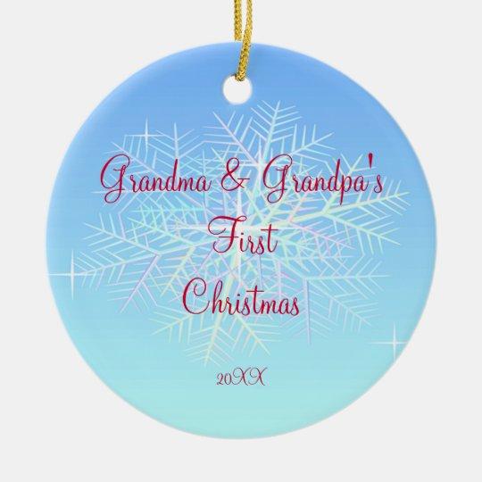 Grandma & Grandpa First Christmas Ornament   Zazzle.com