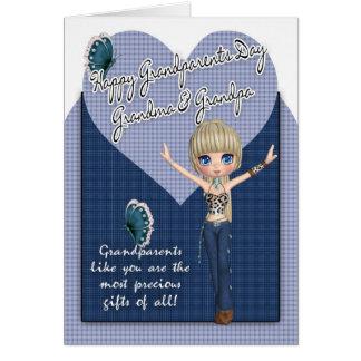 Grandma & Grandpa, Grandparents Day Card - Cute L