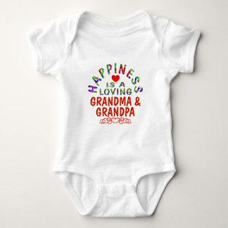 Grandma & Grandpa Happiness Baby Bodysuit