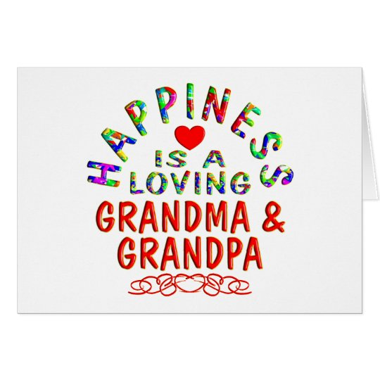 Grandma & Grandpa Happiness Card