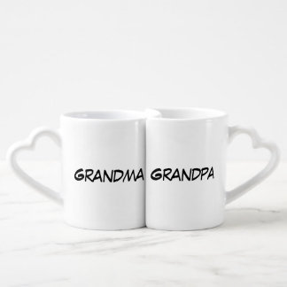 """Grandma/Grandpa"" Nesting Mug Set Couple Mugs"