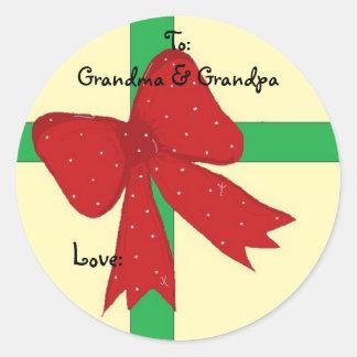 Grandma & Grandpa Classic Round Sticker