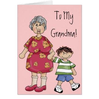 Grandma & Grandson (Grandparent Designs) Card