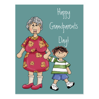 Grandma & Grandson (Grandparent Designs) Postcards
