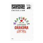 Grandma Happiness Postage Stamps