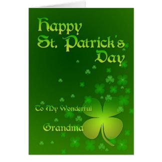Grandma, Happy St Patrick's day card