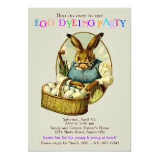 Grandma Hare Easter Invitation