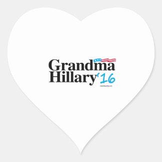 Grandma Hillary 2016 Heart Sticker