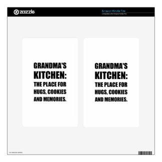 Grandma Hugs Cookies Memories Decal For Kindle Fire