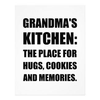 Grandma Hugs Cookies Memories Letterhead