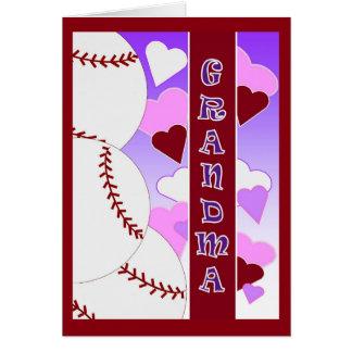 Grandma - I Love You More Than Baseball Valentine Card