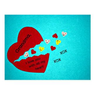 Grandma, I love you with all my heart! Postcard