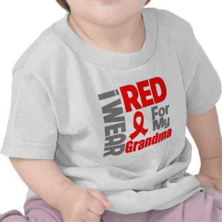 Grandma - I Wear Red Ribbon T Shirts