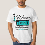 Grandma - I Wear Teal Retro Ovarian Cancer Shirts