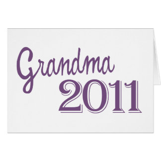 Grandma in 2011 card