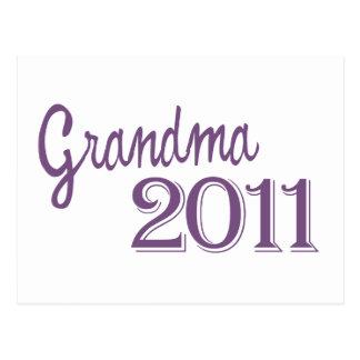 Grandma in 2011 postcard