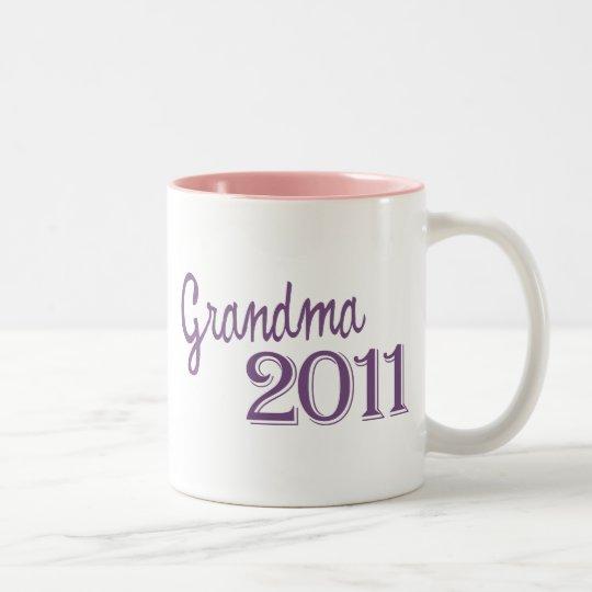 Grandma in 2011 Two-Tone coffee mug