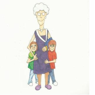 Grandma in a cast photo cutout