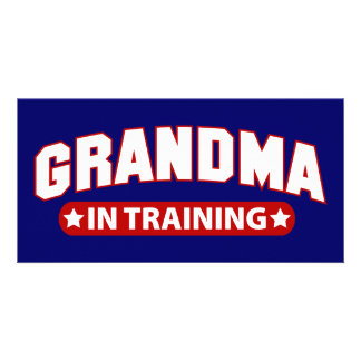 Grandma In Training Card
