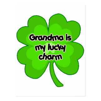 Grandma is My Lucky Charm Postcard