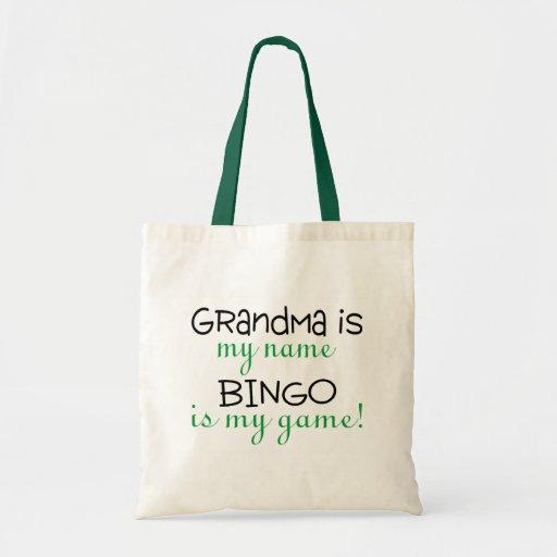 Grandma Is My Name Bingo Is My Game Canvas Bags