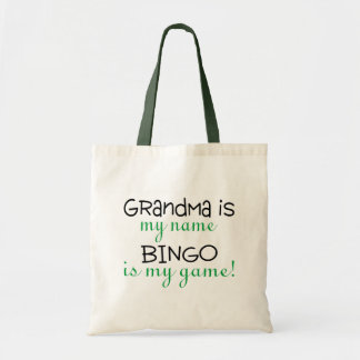 Grandma Is My Name Bingo Is My Game Tote Bag