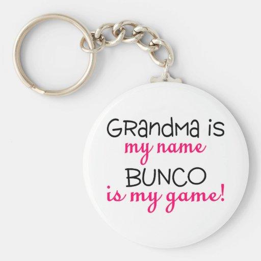 Grandma Is My Name Bunco Is My Game Key Chain