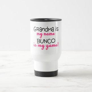 Grandma Is My Name Bunco Is My Game 15 Oz Stainless Steel Travel Mug