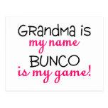 Grandma Is My Name Bunco Is My Game Postcards