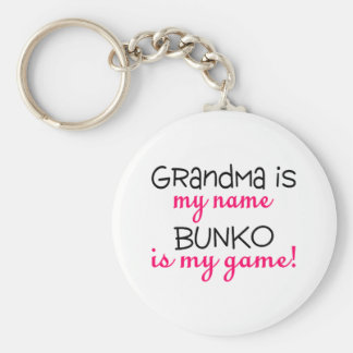 Grandma Is My Name Bunko Is My Game Basic Round Button Keychain