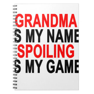 GRANDMA IS NAME SPOILING  IS GAME ;.png Spiral Notebook