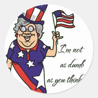 Grandma Isn't Dumb Classic Round Sticker