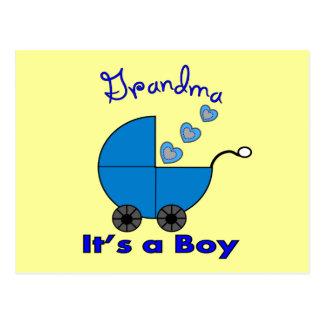 "Grandma"" IT'S A BOY"" Gifts Postcard"