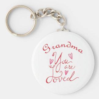Grandma Basic Round Button Keychain