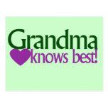 Grandma knows best postcard