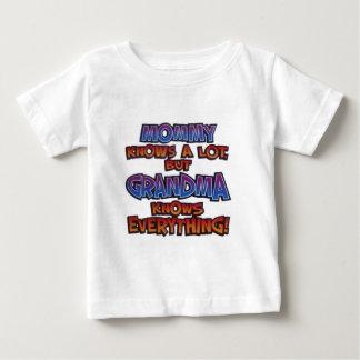 Grandma Knows Everything! Baby T-Shirt