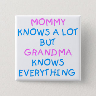 Grandma knows everything   Mother's Day Gift Pinback Button