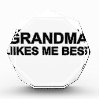 Grandma likes me best Shirts.png Acrylic Award