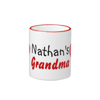 grandma love kids ringer mug