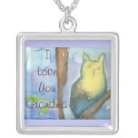 Grandma Love Necklace with Owl
