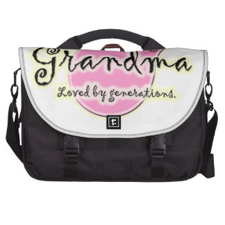 Grandma Loved By Generations - Grandmother Gifts Laptop Commuter Bag