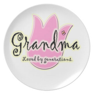 Grandma Loved By Generations - Grandmother Gifts Melamine Plate