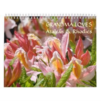 GRANDMA LOVES Azaleas & Rhodies Calendar Gifts