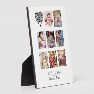 Grandma Loves Her Family Tree Photo Collage Gift Plaque