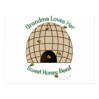 Grandma Loves Her Sweet Honey Bees Postcard
