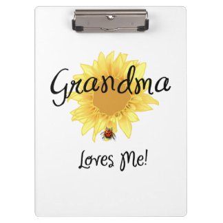 Grandma Loves Me Clipboard