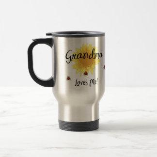 Grandma Loves Me Coffee Mugs