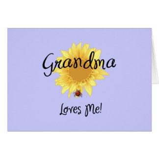 Grandma Loves Me Greeting Card