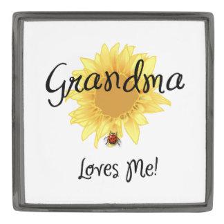 Grandma Loves Me Gunmetal Finish Lapel Pin